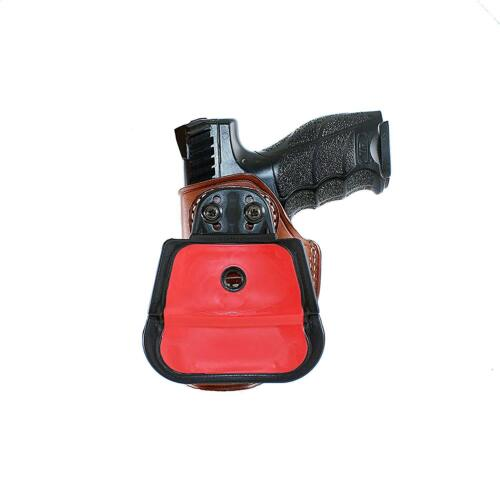 Leather Paddle Holster Fits Pt140 Taurus Pro Pt-111 Pt145 With Ctrac #1163#