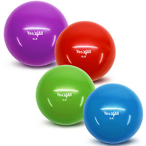 Yes4all-Toning-Ball-Premium-Yoga-Exercise-Soft-Gym-Therapy-Workout-Weighted