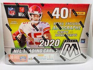 2020-Panini-Mosaic-NFL-Football-Target-Mega-Box-New-Sealed-Gold-Fluorescent