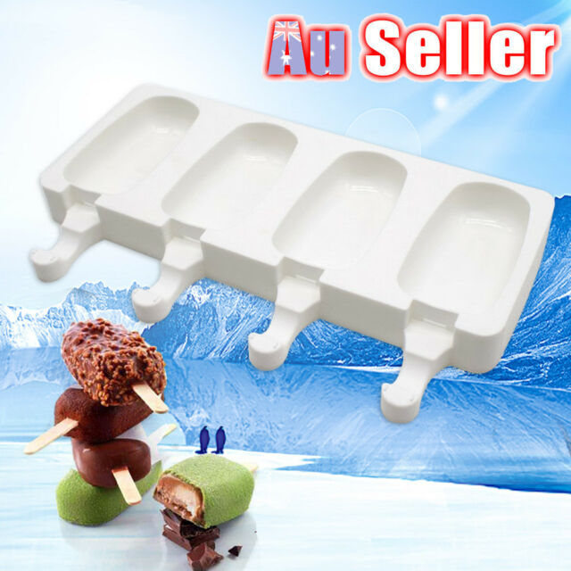 AU Silicone Block Pole Lolly Frozen Mould DIY Tool Maker Mold Ice Cream Popsicle