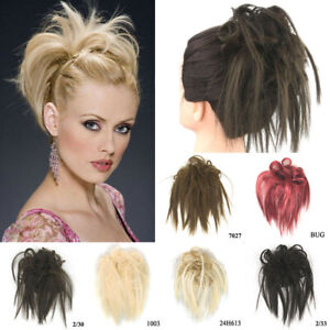 Women-Hair-Ring-Ponytail-Cover-Elastic-Wig-Hair-Piece-Messy-Hair-Extensions