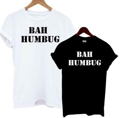 Bah Humbug T Shirt Anti Christmas Scrooge Xmas Dad Miserable Father Gift Funny