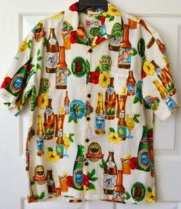 Hilo-Hattie-Mens-L-Hawaiian-Shirt-Beer-Pale-Ale-Golden-Stout-Tiki-Surf-n-Sun