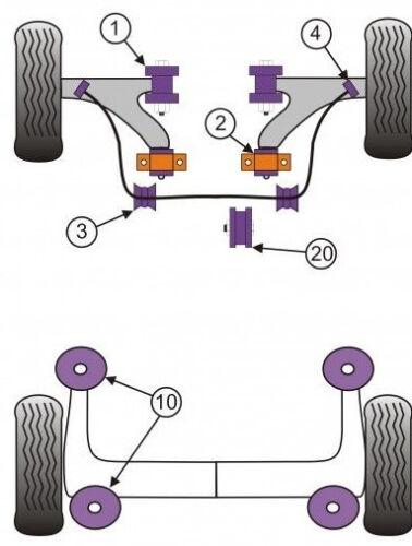 Saxo VTS VTR Powerflex Front Lower Engine Mount Pff50-106 For Peugeot 106 /& GTi