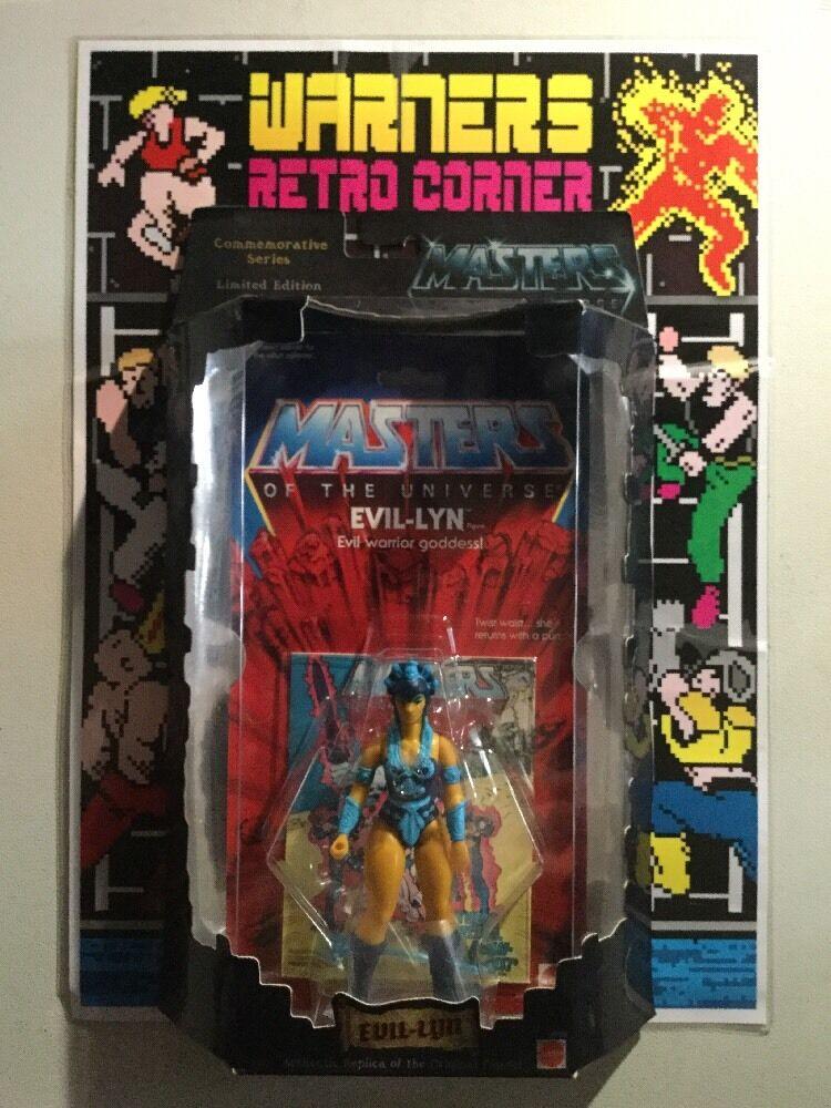 MOTU HE MAN MASTERS UNIVERSE EVIL LYN commerative Action Figure MOC giocattolo figura
