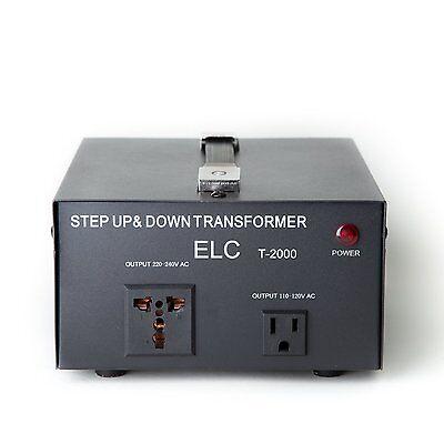 2000 W Watts Step Up/Down Voltage Converter Transformer