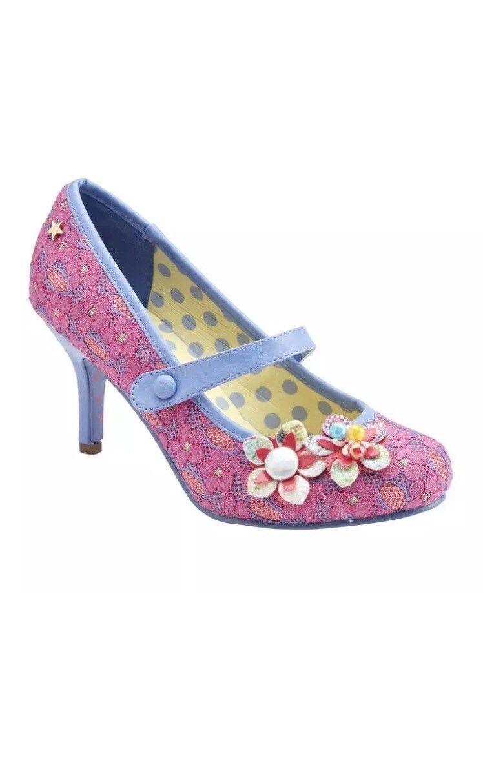 Joe Browns Couture Malia   Stivali in Pizzo Rosa Eccentrico   Vintage Taglia 7
