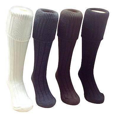 Kilt Hose Socks Chunky Knit Thick Comfortable Great Colours Carefully Made In Uk Unterscheidungskraft FüR Seine Traditionellen Eigenschaften