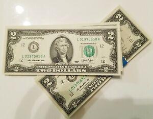 USA-JEFFERSON-Billet-de-2-dollars-2013-San-Francisco-Billet-porte-bonheur