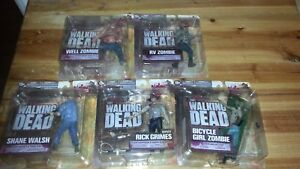 Ensemble complet The Walking Dead Series Two - 5 figurines d'action Mcfarlane Toys -af1