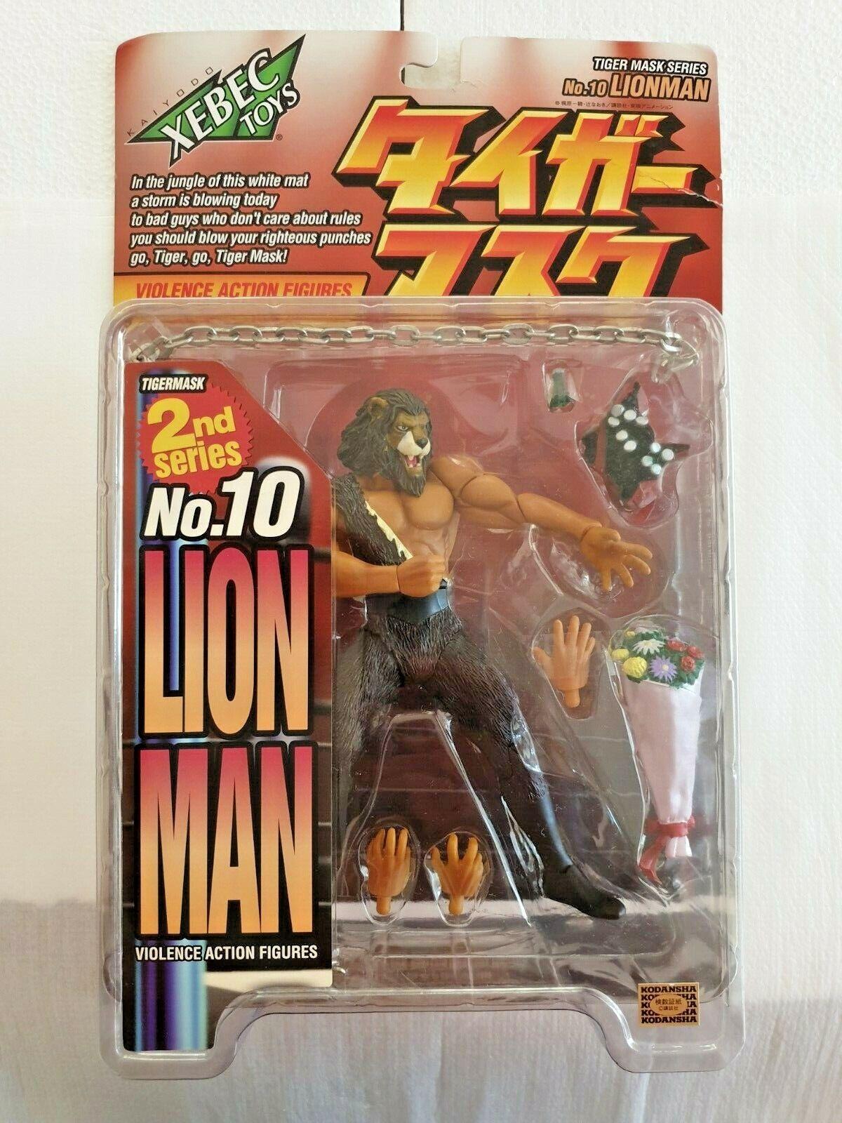 Xebec Toys Våld Handling Figures herrar Tiger Mask Serie Nr 10 Lion Man