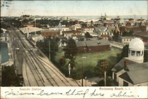 Rockaway-Beach-Long-Island-NY-Seaside-Station-c1910-Postcard