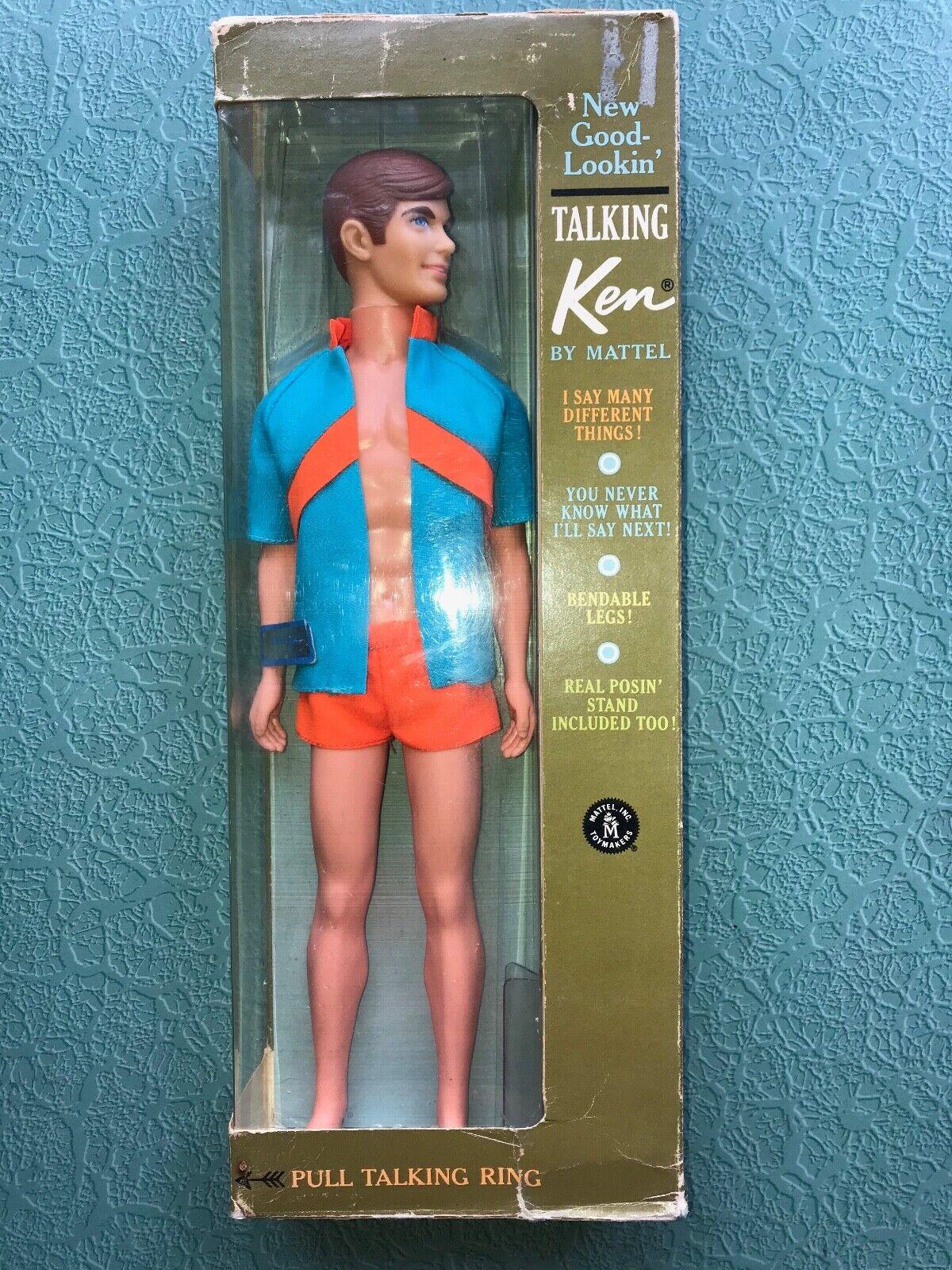 Vintage Mod Barbie, hablando de buen aspecto Ken Rare variation, En Caja Original, problema de 1ST +2ND