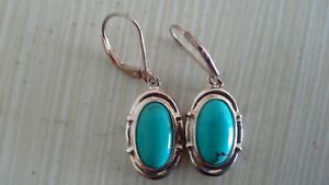 Turquoise with Twisted Arms 925 Sterling Silver Pendant