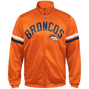 Denver-Broncos-NFL-Men-s-Orange-Graphic-Track-Jacket-Size-Medium-New-With-Tag