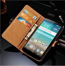 Per LG G3 D855 custodia  in pelle a portafoglio nero flip case cover