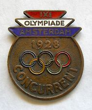 g127 Amsterdam IX Summer Olympic Games 1928 official participant enamel badge