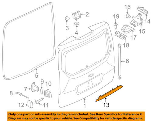 FORD OEM Liftgate Tailgate Hatch-Handle Outside Exterior DT1Z5843400CA