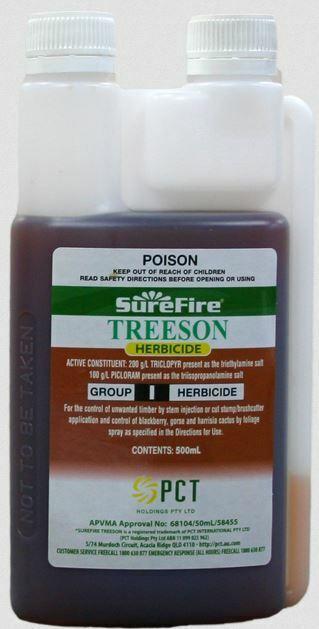 Treeson Herbicide 500ml Tree Killer Triclopyr & Picloram. Equiv Tordon FREE POST