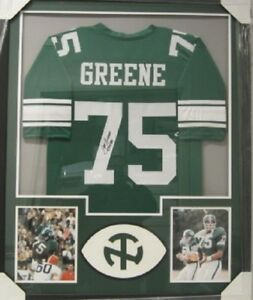 14e61134a Mean Joe Greene University North Texas signed framed matted jersey ...