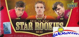 2015-16-UD-Hockey-Factory-Sealed-25-Card-STAR-ROOKIE-Box-Set-Connor-McDavid-RC