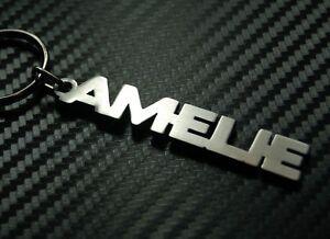 AMELIE-nombre-personalizado-llavero-a-medida-Acero-Inoxidable-Regalo