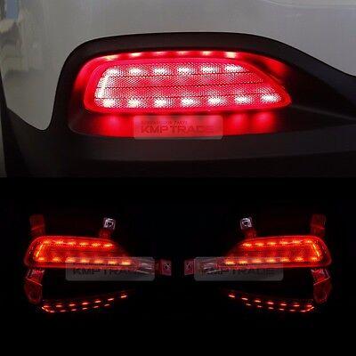 for KIA 15-17 Sorento Rear Bumper Reflector 2Way Brake LED Module Sequential 2P