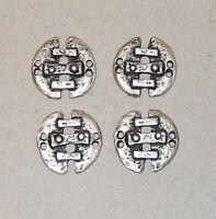 4 ausgefallene Knöpfe Metallknöpfe Knopf Metallknopf Trachtenknopf