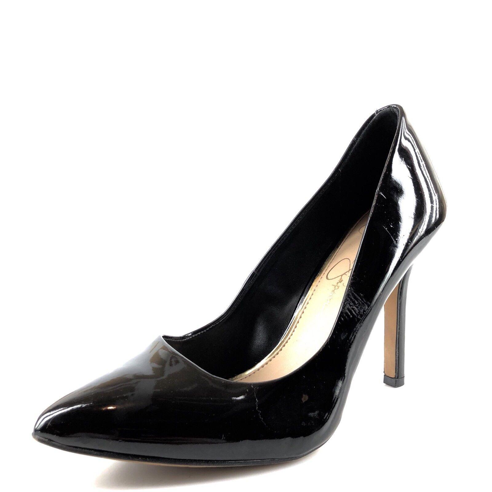 Jessica Simpson Adeni Black Patent Leather Classic Pumps Womens Size 7.5 M