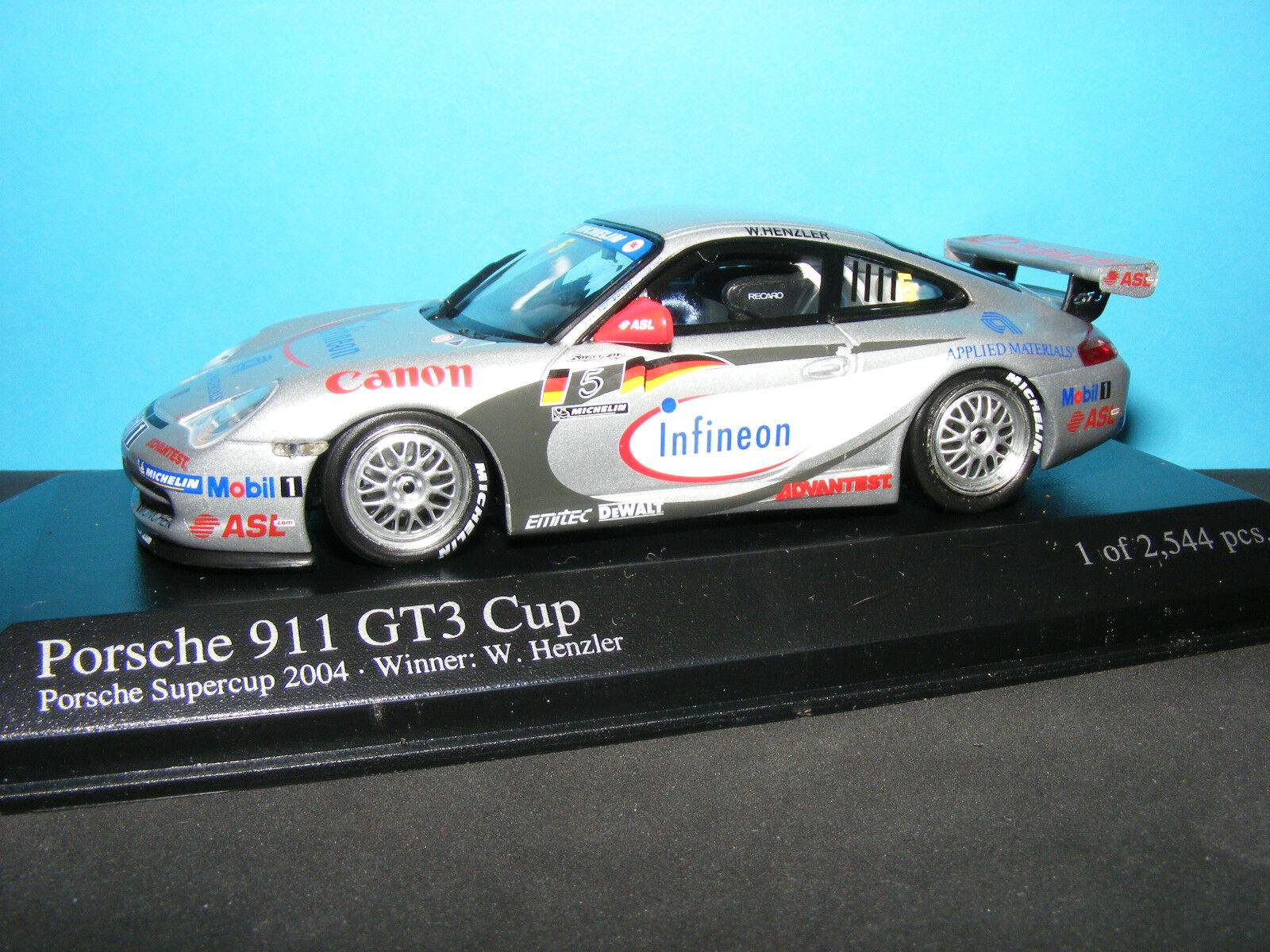 PORSCHE 911 GT3 SUPERCUP WINNER W.HENZLER  Minichamps 1 43rd.
