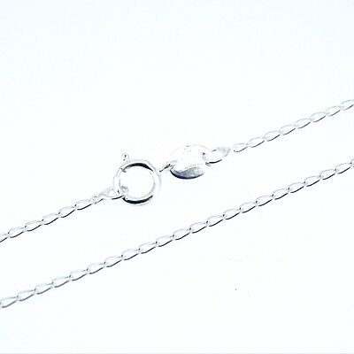 """Sterling Silver Fine Lightweight 1mm x 2mm link Curb Chain Necklace 16/"""" 18/"""" 20/"""""""