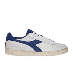 Diadora Game L Low Sneaker Uomo 501.174764 C8569 Bianco Blu Bijou