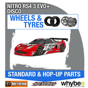 HPI-NITRO-RS4-3-EVO-DISCONTINUED-KITS-Wheels-amp-Tyres-Genuine-HPi-1-10-R-C