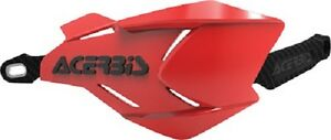 Acerbis X Factory Hand Guards Handlebar Motorcycle Dirt Bike White Red
