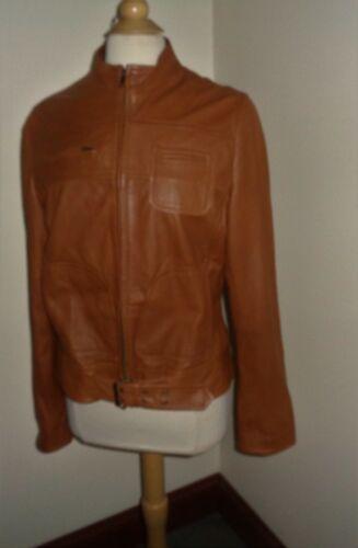 For Joseph Brown Leather Jacket L SOFT LAMBSKIN Bi
