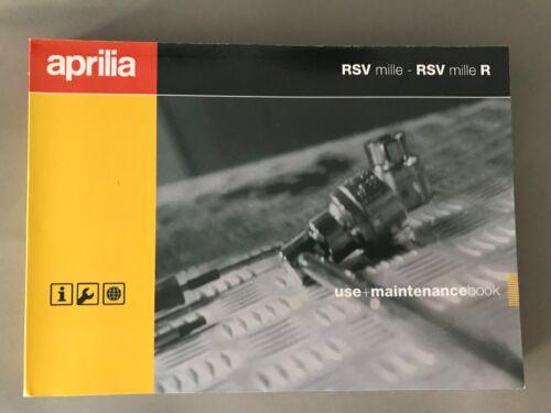APRILIA RSV MILLE R manuale d/'uso manuale manual NL il fi