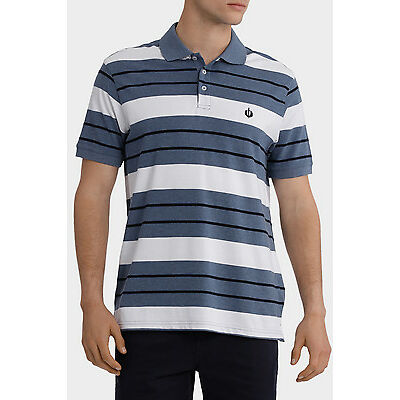 New Reserve Stripe Polo Steel