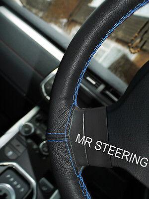Accoppiamenti Volvo 940 Neri In Pelle Volante Copertura Azzurro Doppia Cucitura 90-98- Facile Da Riparare