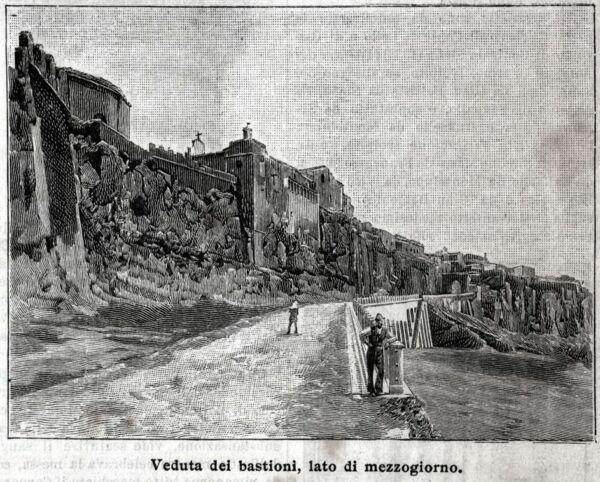 Consegna Veloce Orvieto: I Bastioni, 1. Terni. Umbria. Stampa Antica + Passepartout. 1897 Comodo E Facile Da Indossare