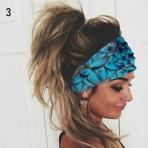 Turban Elastisches Kopfband Haarbänder Breite Kopfwickel Kopfstück für Frauen