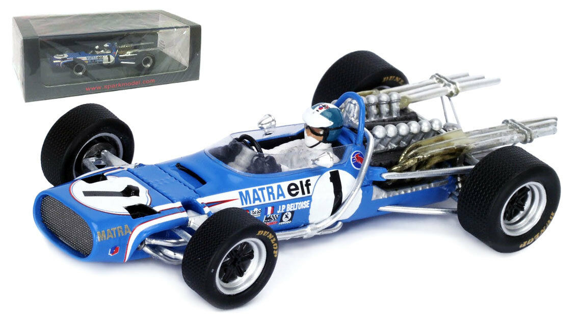 Spark S4356 Matra MS11 Monaco GP 1968 - Jean-Pierre Beltoise 1 43 Scale