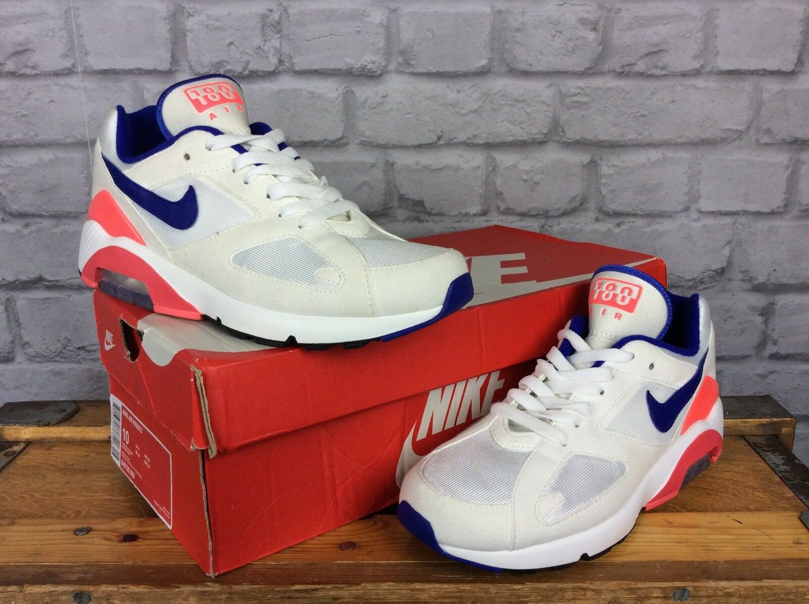 NIKE AIR MAX 180 LADIES5 EU 38.5 rose blanc ULTRAMARINE ouge TRAINERS rose 38.5 Bleu 4b34ea