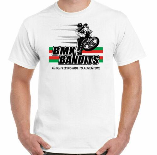 3xl BMX BANDITS T-Shirt Logo Classique Film Film Pour Homme 100/% Rétro Cadeau Blanc S
