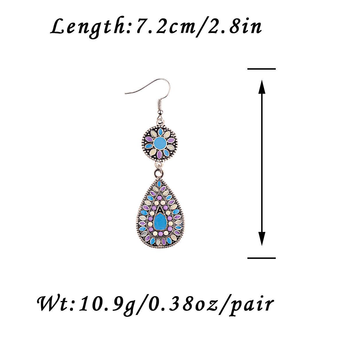 Fashion Women/'s Vintage Bohemian Boho Style Multicolor Drip Drop Dangle Earrings