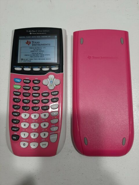 Texas Instruments TI-84 TI Plus C Silver Edition Color Graphing Calculator Pink