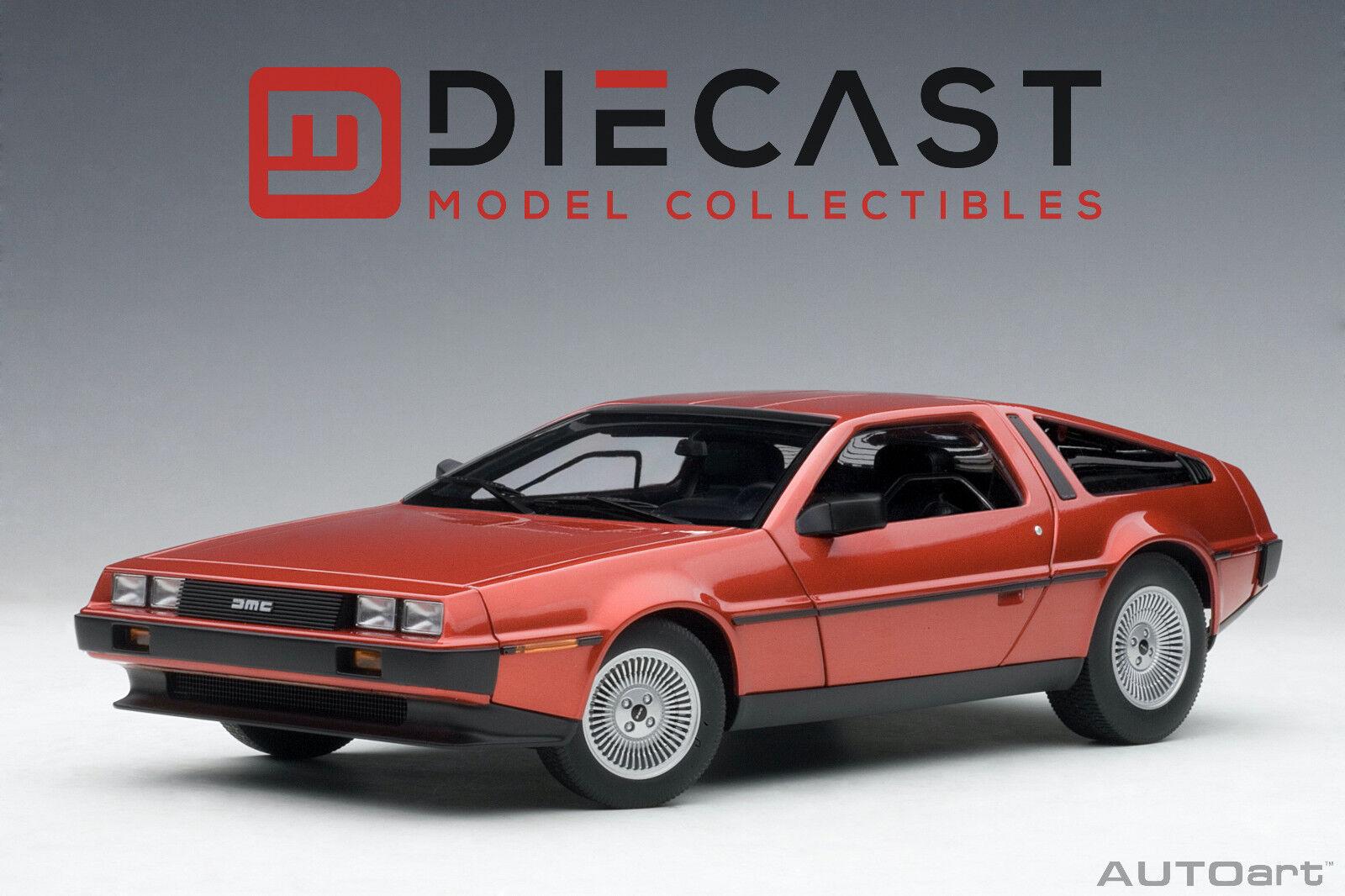 AUTOART 79918 DELOREAN DMC-12  METALLIC rosso  1:18TH SCALE