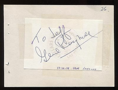 "Movies Entertainment Memorabilia Original Gene Raymond Signed Album Page Inscribed ""to Jeff"" Vintage Autographed In 1978"