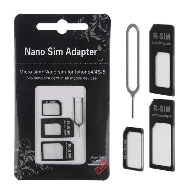 Nano SIM Card to Micro Standard Adapter Adaptor Converter Set For iPhone 7 6 6s