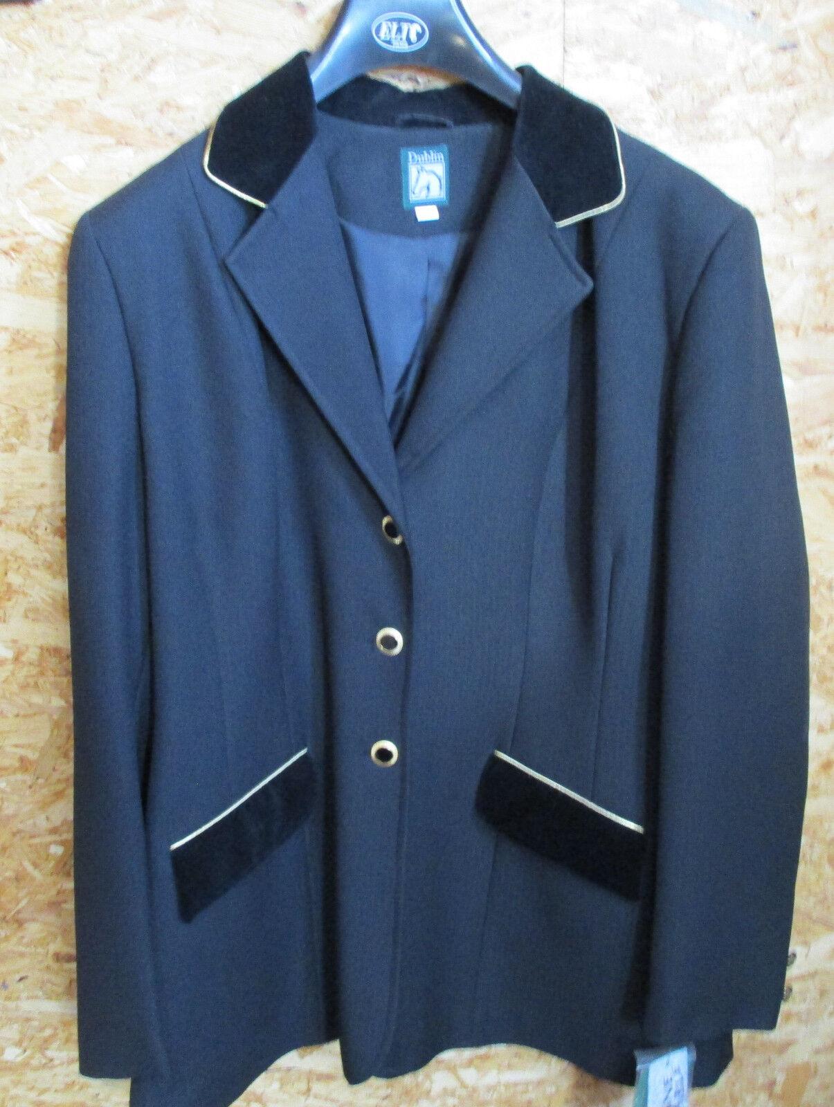 Señora Señora Señora turnierjacket, reitsakko, Dublin negro, cuello de terciopelo, talla 42 b64643