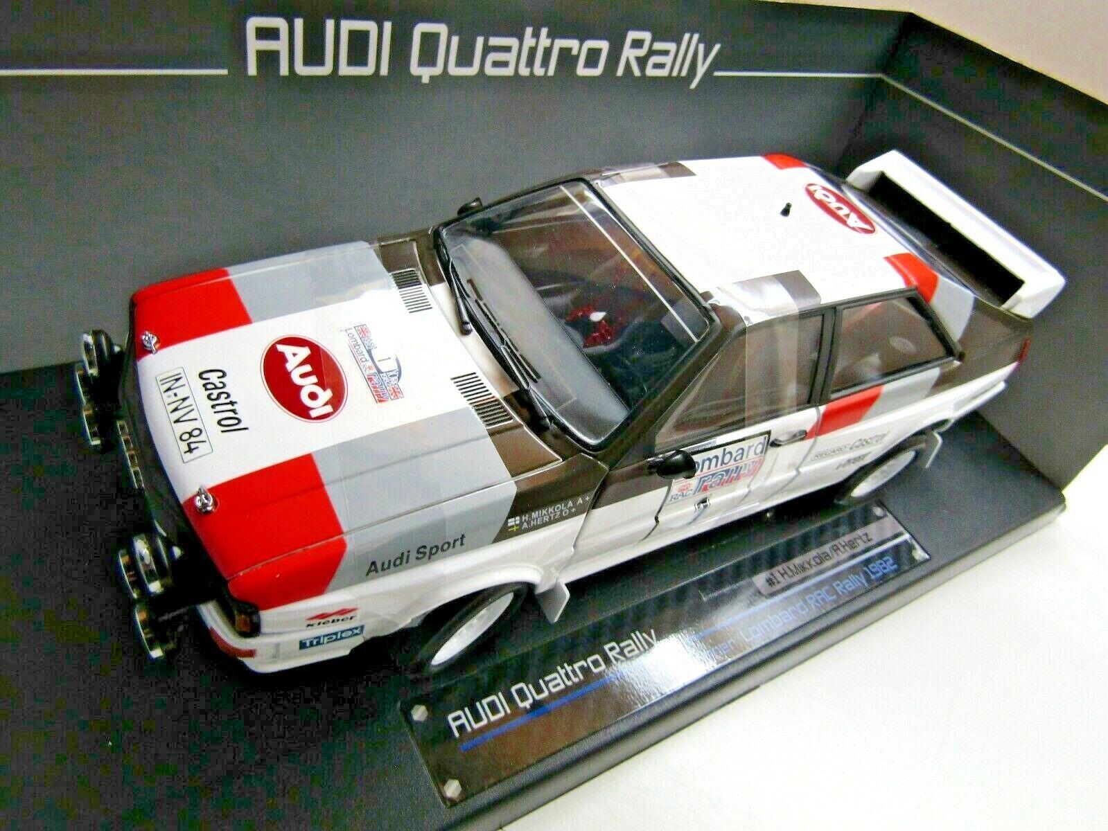 Sun Star 1 18 Scale Diecasti Quattro Lombard RAC Rally 1982 Mikkola   Hertz